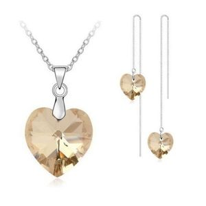 Champagne Crystal Heart set